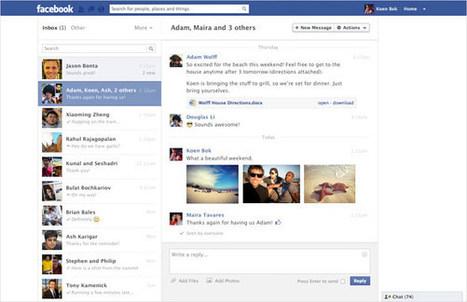Un nouveau look pour les messages Facebook | Social Media Curation par Mon Habitat Web | Scoop.it