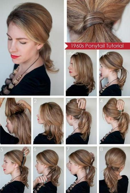 DIY Classic Ponytail Hairstyle | hairstyles | Scoop.it