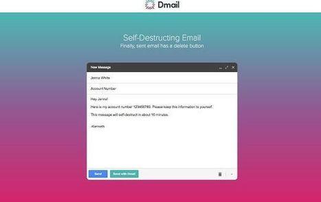 Dmail : un parfum de Snapchat dans cette extension pour Gmail | Geeks | Scoop.it