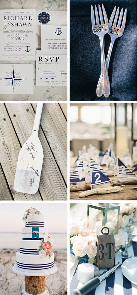 Set Sail with these Nautical Destination Wedding Ideas | The ... | Weddings & Events | Scoop.it