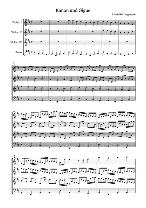 Canon and Gigue in D major (Pachelbel, Johann) - IMSLP/Petrucci Music Library: Free Public Domain Sheet Music   Music Education   Scoop.it