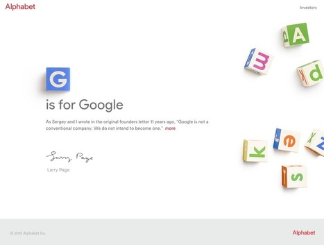 Why it doesn't matter if people think 'Alphabet' is a good brand name or not (GOOG) | Information Technology & Social Media News | Scoop.it