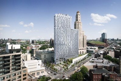 [« bling-bling »  Architecture] Brooklyn apartment tower by Enrique Norten nears completion | The Architecture of the City | Scoop.it