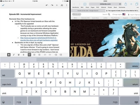Les applications Google Docs pour iOS prennent en charge la Split View sur iPad | Applications Iphone, Ipad, Android et avec un zeste de news | Scoop.it