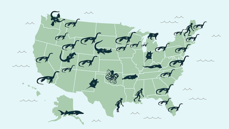 A Map of the United States' Mythical Lake Monsters | Strange days indeed... | Scoop.it