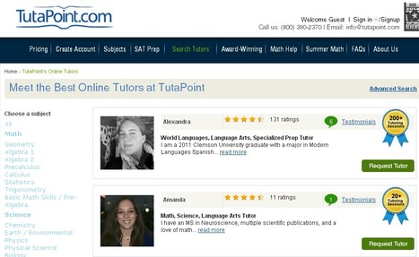Browse for the Best Tutors in Science, Math and Language Arts | Tutapoint Online Education | Scoop.it