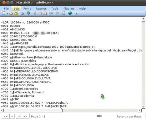 Herramientas en la Web 2.0 [MarcEdit]: Metadatos | Documanía 2.0 | Digital World | Scoop.it
