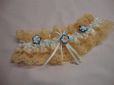 Garter, Peach lace garter, Wedding/Prom Garter | Wedding Garters | Scoop.it