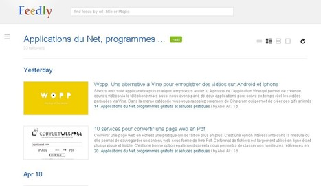 Donner le look Google Reader à Feedly grâce à Feedly Reader sur google chrome | Time to Learn | Scoop.it