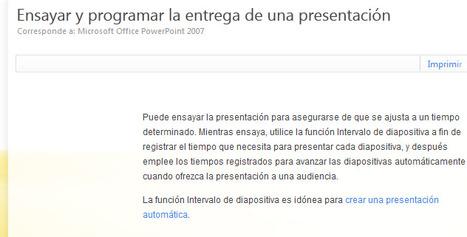 Ensayar y programar la entrega de una presentación - PowerPoint - Office.com | Utilidades TIC para el aula | Scoop.it