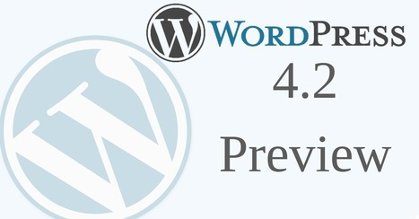 Preview WordPress 4.2 Features | Simple Local Business | Scoop.it