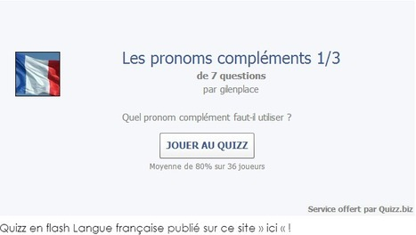 Petit Quizz sur les pronoms compléments | Remue-méninges FLE | Scoop.it