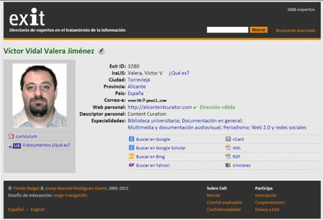 Exit: Directorio de Expertos en el Tratamiento de la Información | El Content Curator Semanal | Scoop.it