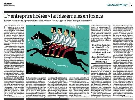 L'«entreprise libérée» fait des émules en France | Liberté & Cie | Intelligence collective et facteur humain | Scoop.it