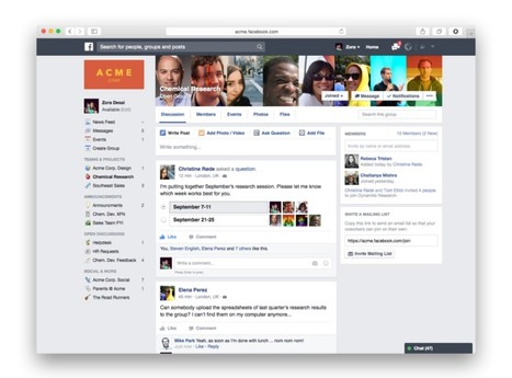 Facebook's new workplace network, 'Facebook at Work', is coming soon | disruptive technolgies | Scoop.it