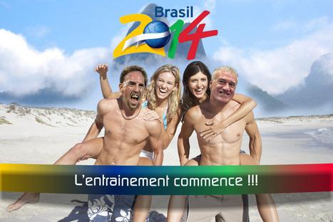 Les bleus s'entrainent au Brésil pour 2014   Humour et pub détounée   Scoop.it