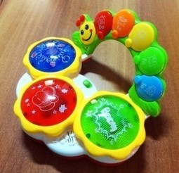 Buy Battery Operated Hand Clapping Interactive Drum with Musical Notes, Colors, Songs, Flashing Lights and Music   Discounts India   Scoop.it