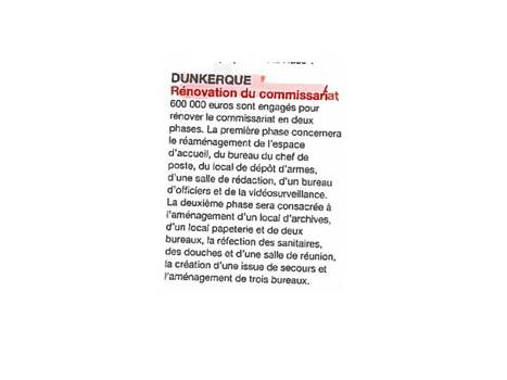 DUNKERQUE- RENOVATION DU COMMISSARIAT   LES PROJETS NPC   Scoop.it