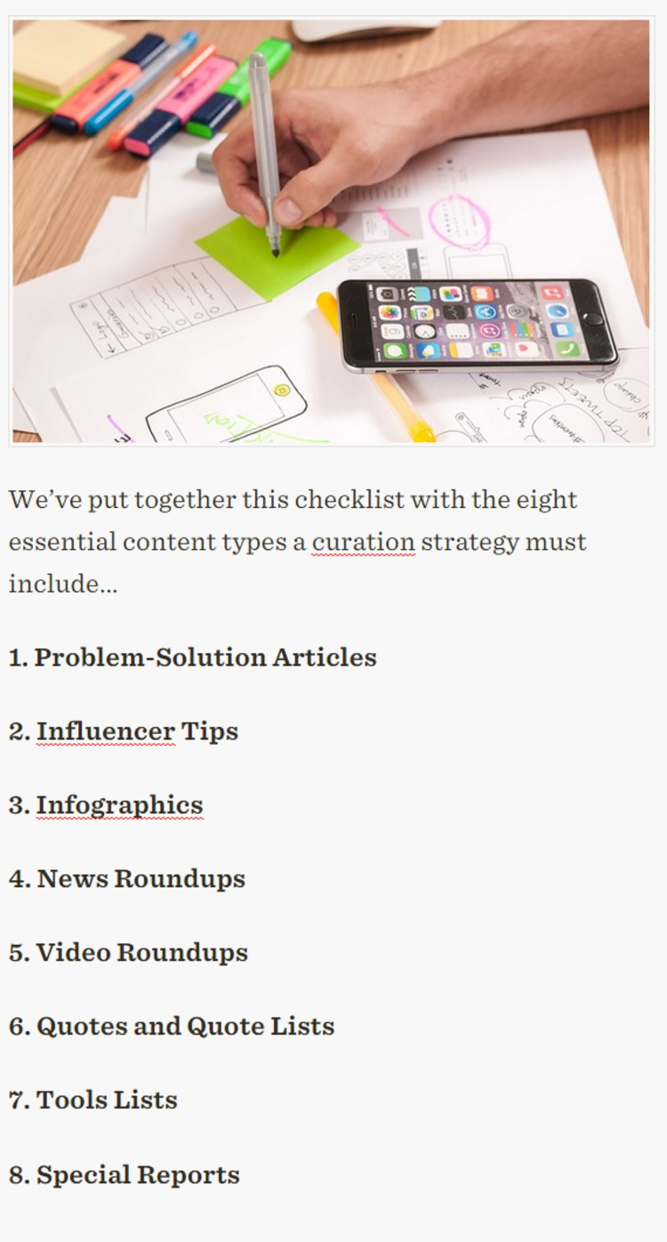 Content Curation Ultimate Checklist: How to Absolutely Nail a Winning Strategy - FrontPage.it | The Marketing Technology Alert | Scoop.it