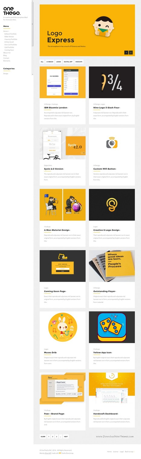 OneTheGo Creative Agency Showcase Responsive Site Template Download | Creative Themes and Template Download | Scoop.it
