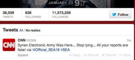 L'armée électronique syrienne pirate le compte Twitter de CNN | DocPresseESJ | Scoop.it