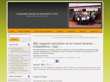 NBC supports renovation of six school libraries – In2EastAfrica – East | Professional development of Librarians | Scoop.it