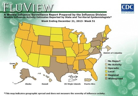 Flu virus increasing across country, widespread in 10 states | Health and cleanliness | Scoop.it