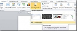 Screenshot (Schermopname) in Word, Excel en PowerPoint2010 | PowerPointindeklas | Scoop.it