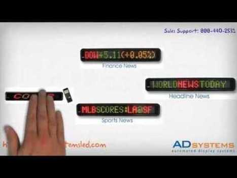 Single Line LED Display | Outdoor LED Advertising Products | Scoop.it