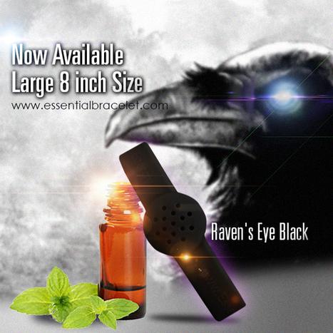 Large Raven's Eye Black Essential Bracelet - ESSENTIAL BRACELET | Aromathérapie | Scoop.it