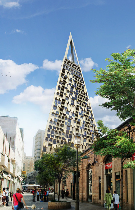 "[Encore un TRIANGLE !] Daniel Libeskind to Build ""Pyramid Tower"" in Jerusalem 