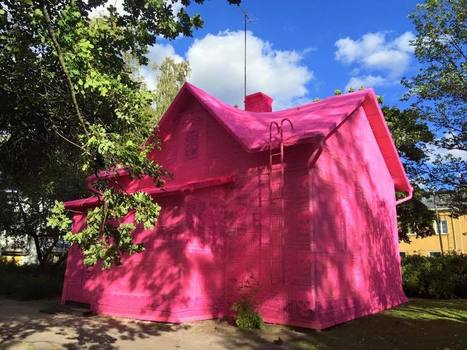 Artist Olek Covers a House in Finland with Pink Crochet | Daily News Reads | Scoop.it