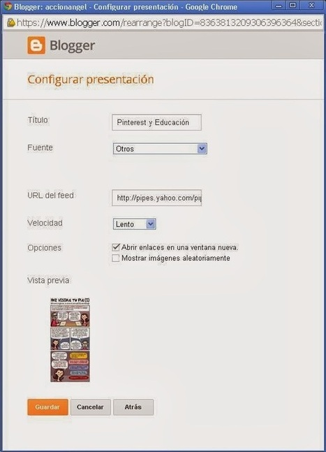 Gadget rodante de Pinterest para Blogger | Educacion, ecologia y TIC | Scoop.it