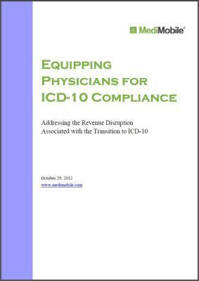 MediMobile Releases White Paper Addressing the ICD-10Transition | Medical charge capture | Scoop.it