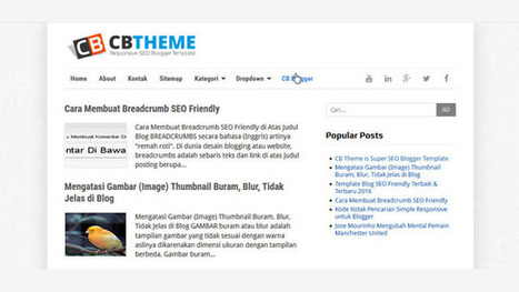 CB Theme Responsive SEO Blogger Templates - Kaizentemplate - Rebuild Another Awesome Blogger Templates | Blogger themes | Scoop.it