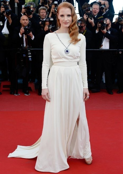 Redhead Jessica Chastain Wows in Versace Collection | Red Carpet Fashion | Scoop.it