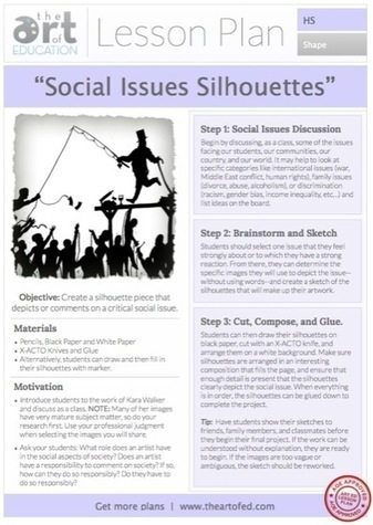Social Issues Silhouettes: Free Lesson Plan Download | Technology in Art And Education | Scoop.it