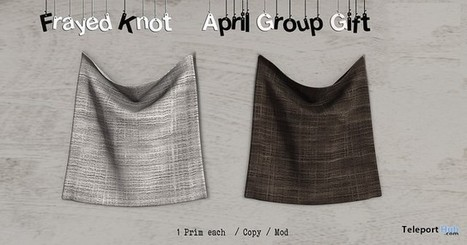 Frayed Knot Wall Tapestry Brown & White April 2016 Group Gift by Frayed Knot | Teleport Hub - Second Life Freebies | Second Life Freebies | Scoop.it