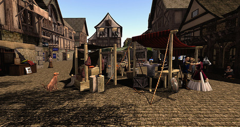 Busy Marketday at New Caelestium, - Apus -  Second Life | Second Life Destinations | Scoop.it