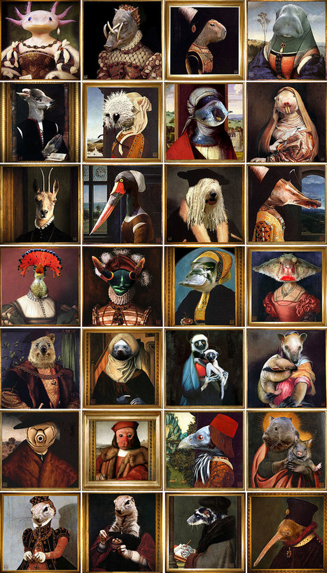 Alphabet des animaux peu connus à la Renaissance , maintenant avec leur nom. merci @calirezo | Frans en mixed media | Scoop.it