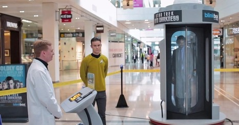 'Star Trek' Teleportation Prank Confuses Mall Shoppers [VIDEO] | Carter's EventTech of Tomorrow - That Matters. | Scoop.it
