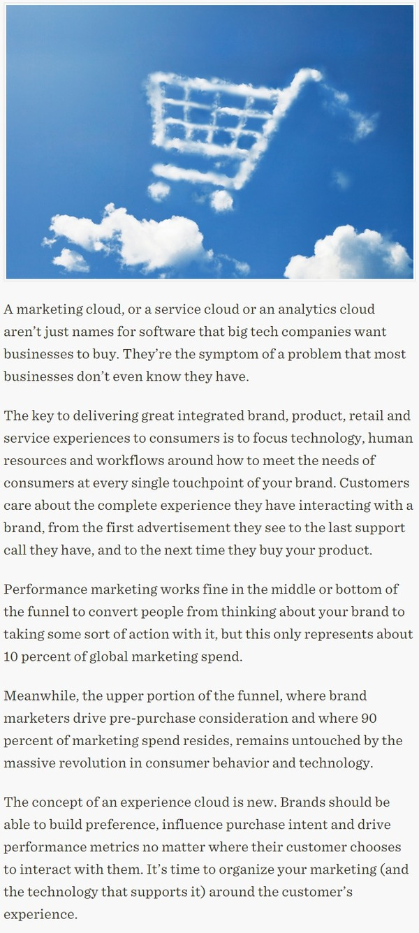 Why Marketing Clouds Make No Sense - TechCrunch | The Marketing Technology Alert | Scoop.it