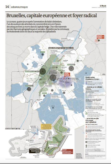 Carte : Bruxelles, capitale européenne et foyer radical (Le Monde)   Géographie des conflits   Scoop.it