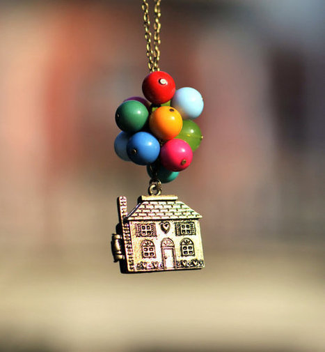 Necklace,Beadwork Necklace ,Flying House,Flying Dreams,Up Movie Necklace | Walking On Sunshine | Scoop.it