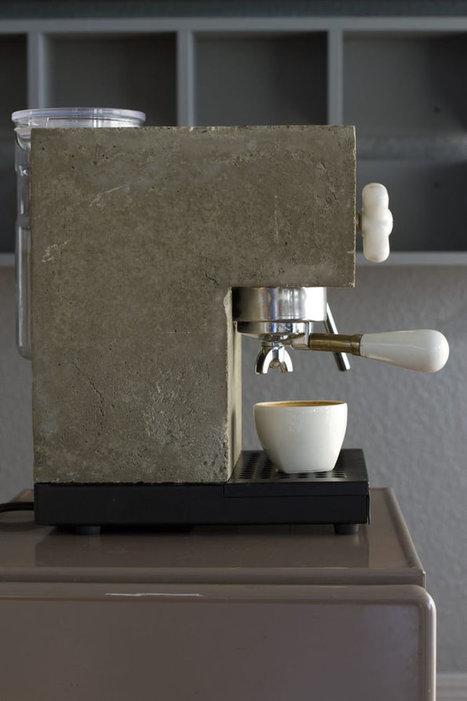 Anza Coffee Machine corian béton pour des café bruts ! | Le béton créatif et poétique | Scoop.it