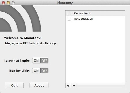 Monotony : un lecteur RSS minimaliste | Apple, IMac and other Iproducts | Scoop.it