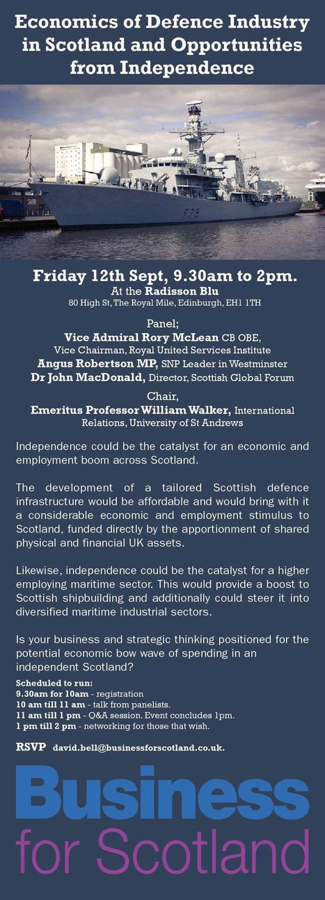 Economics of Defence Industry and Opportunities from Independence | Referendum 2014 | Scoop.it