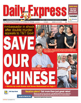 Express - Front Page - Mon 16th July 2012   Trininews   Scoop.it