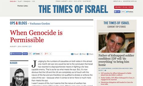 "Israeli Newspaper: ""When Genocide Is Permissable"" | Daily Crew | Scoop.it"