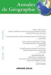 Revue Annales de géographie 2016/2 | Parution de revues | Scoop.it